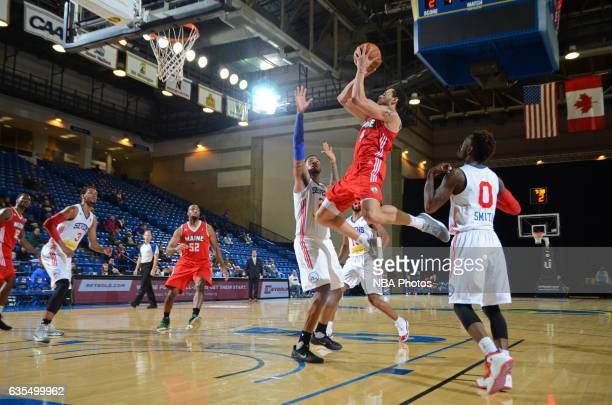 Abdel Nader of the Maine Red Claws goes up for a shot during the game against the Delaware 87ers on February 14 2017 at the Bob Carpenter Center in...