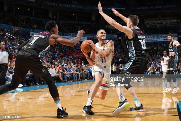 Abdel Nader of the Oklahoma City Thunder drives to the basket against the New Zealand Breakers during the preseason on October 10, 2019 at Chesapeake...