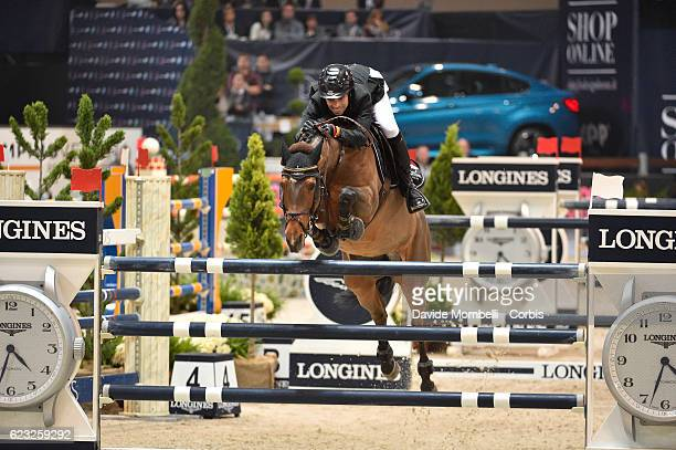 Abdel of Egypt rides Hope van Scherpen Donder during the FEI Longines CSI5* World Cup Small Tour By BMW Jumping Verona 2016 on November 10 2016 in...