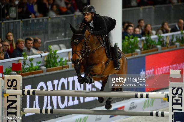 Abdel Said of Egypt riding Venise du Reverdy during the Longines FEI Jumping World Cup Verona 2018 CSI5*W on October 28 2018 in Verona Italy