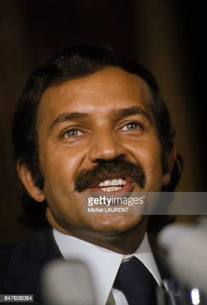 Abdelaziz Bouteflika Ministre Algerien des Affaires Etrangeres au sommet de L'OPEP en 1973 a Paris France