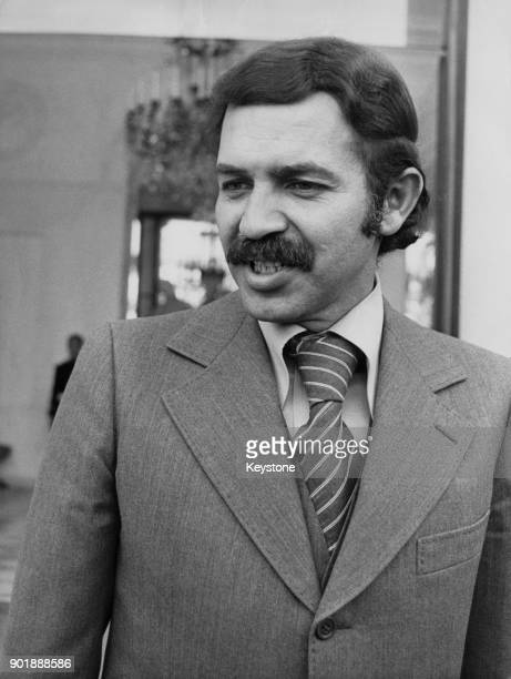 Abdelaziz Bouteflika the Algerian Minister of Foreign Affairs during a visit to Paris France 1978