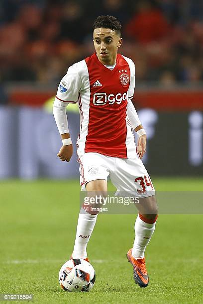 Abdelhak Nouri of Ajax Amsterdamduring the Dutch Eredivisie match between Ajax Amsterdam and sbv Excelsior at the Amsterdam Arena on October 29 2016...