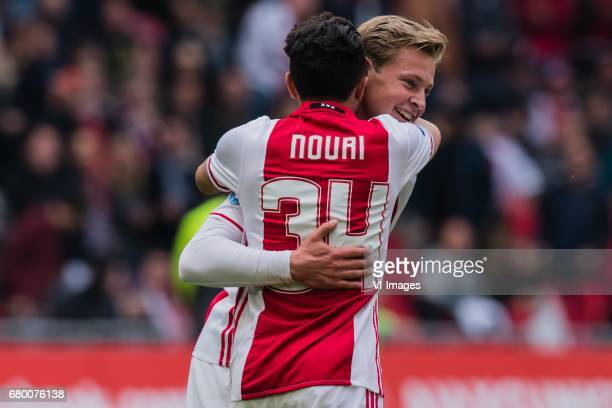 Abdelhak Nouri of Ajax Frenkie de Jong of Ajaxduring the Dutch Eredivisie match between Ajax Amsterdam and Go Ahead Eagles at the Amsterdam Arena on...