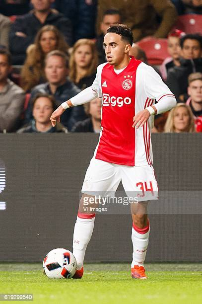 Abdelhak Nouri of Ajaxduring the Dutch Eredivisie match between Ajax Amsterdam and sbv Excelsior at the Amsterdam Arena on October 29 2016 in...
