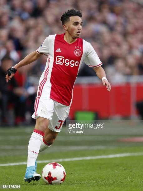 Abdelhak Nouri of Ajaxduring the Dutch Eredivisie match between Ajax Amsterdam and Feyenoord Rotterdam at the Amsterdam Arena on April 02 2017 in...