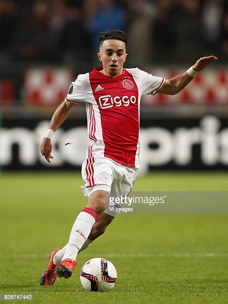 Abdelhak Nouri of Ajaxduring the UEFA Europa League group G match between Ajax Amsterdam and Panathinaikos FC at the Amsterdam Arena on November 24...