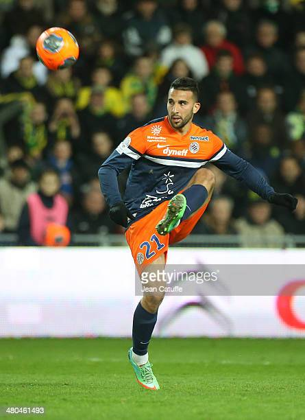 Abdelhamid El Kaoutari of Montpellier in action during the french Ligue 1 match between FC Nantes and Montpellier Herault SC at Stade de la Beaujoire...
