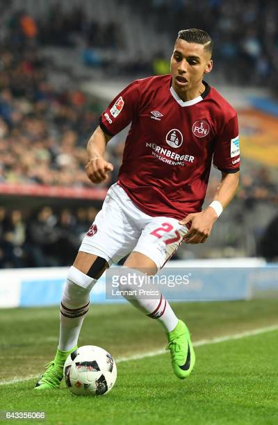 Abdelhamid Sabiri of 1 FC Nuernberg gestures during the Second Bundesliga match between TSV 1860 Muenchen and 1 FC Nuernberg at Allianz Arena on...