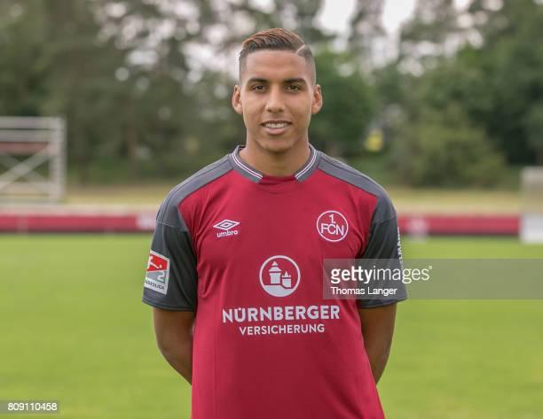 Abdelhamid Sabiri of 1 FC Nuernberg poses during the 1 FC Nuernberg team presentation at Sportpark Valznerweiher on July 3 2017 in Nuremberg Germany