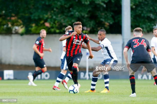 Abdelhamid Sabiri of Huddersfield Town during the pre season friendly between Bury and Hufddersfield Town at Gigg Lane on July 10 2018 in Bury England