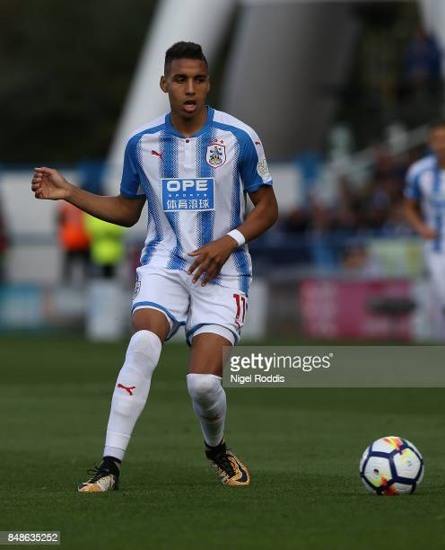 Abdelhamid Sabiri of Huddersfield Town during the Premier League match between Huddersfield Town and Leicester City at John Smith's Stadium on...