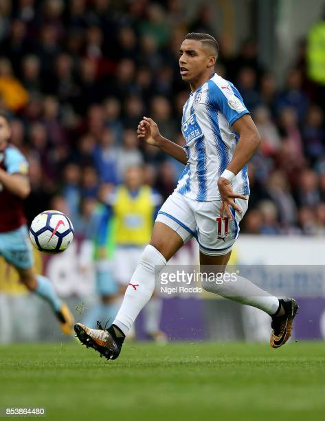 Abdelhamid Sabiri of Huddersfield Town during the Premier League match between Burnley and Huddersfield Town at Turf Moor on September 23 2017 in...