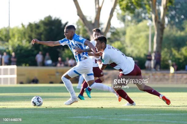 RUSSELSHEIM GERMANY JULY 18 Abdelhamid Sabiri of Huddersfield Town during the preseason friendly between Dynamo Dresen and Hiddersfield Town at...