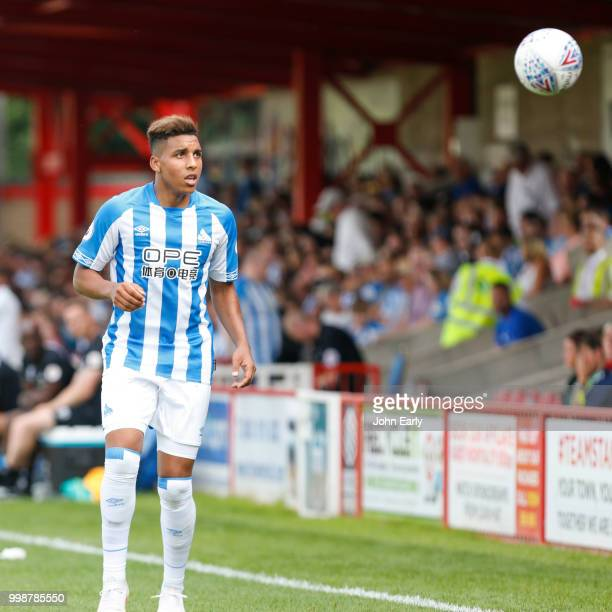 Abdelhamid Sabiri of Huddersfield Town during the preseason friendly between Accrington Stanley and Huddersfield Town at The Crown Groundon July 14...