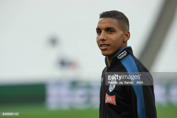 Abdelhamid Sabiri of Huddersfield Town prior to the Premier League match between West Ham United and Huddersfield Town at London Stadium on September...