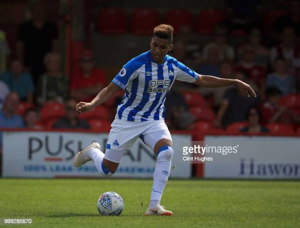 Abdelhamid Sabiri of Huddersfiled Town during the preseason friendly between Accrington Stanley and Huddersfield Town at The Crown Groundon July 14...