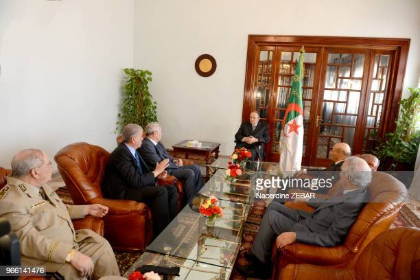 Abdelkader Bensalah president du senat Abdelmalek Sellal premier ministre Gaid Salah chef d'etat major Larbi Ould Khelifa president de l'assemblee...