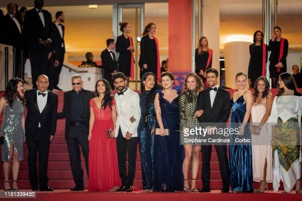 Abdellatif Kechiche, Hafsia Herzi, Salim Kechiouche, Alexia Chardard, Lou Luttiau, Shain Boumedine, Mel Einda El Asfour and the cast of the crew of...