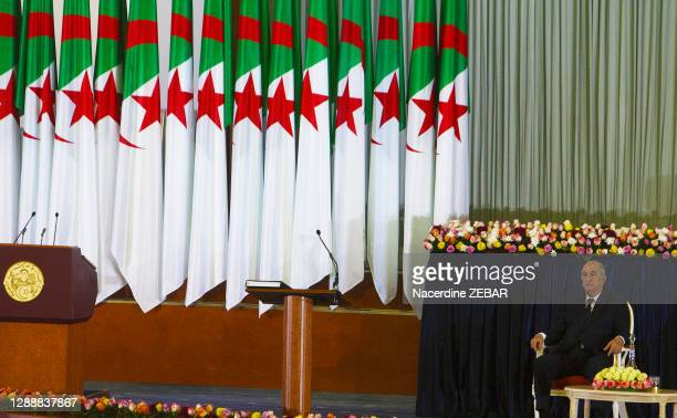 Abdelmadjid Tebboune, élu au 1er tour de la présidentielle le 12 décembre, a pris ses fonctions le 19 décembre 2019 pour un mandat de cinq ans lors...