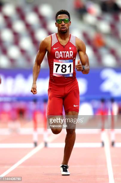 Abderrahman Samba of Qatar competes in the final of the Men's 400m Hurdles during day two of the 23rd Asian Athletics Championships at Khalifa...