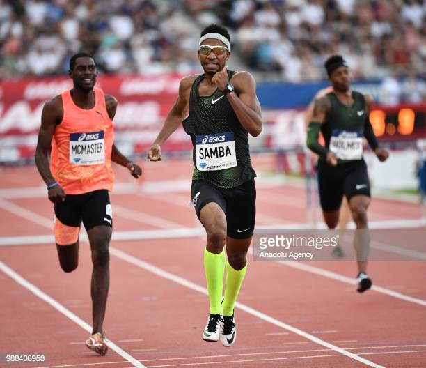 Abderrahman Samba of Qatar competes in the Men's 400m Hurdles at the IAAF Diamond League meeting at Stade Charlety in Paris France on June 30 2018