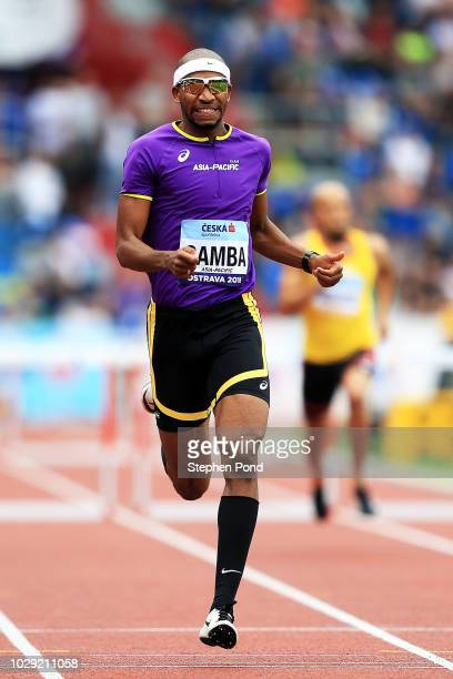 Abderrahman Samba of Team AsiaPacific competes in the Mens 400 Metres during day one of the IAAF Continental Cup at Mestsky Stadium on September 8...