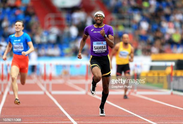 Abderrahman Samba of Team Asia-Pacific competes in the Mens 400 Metres during day one of the IAAF Continental Cup at Mestsky Stadium on September 8,...