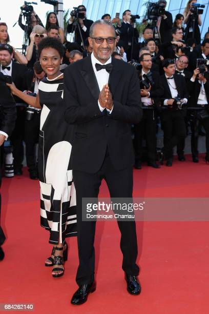 Abderrahmane Sissako attends the 'Ismael's Ghosts ' screening and Opening Gala during the 70th annual Cannes Film Festival at Palais des Festivals on...