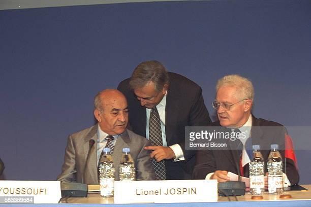 Abderrahmane Youssoufi Dominique StraussKahn and Lionel Jospin