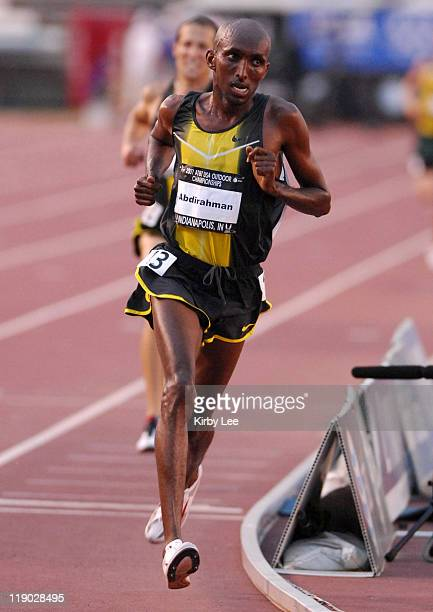 Abdi Abdirahman won the 10000 meters in 281351 in the USA Track Field Championships at Carroll Stadium in Indianapolis Indiana on June 21 2007
