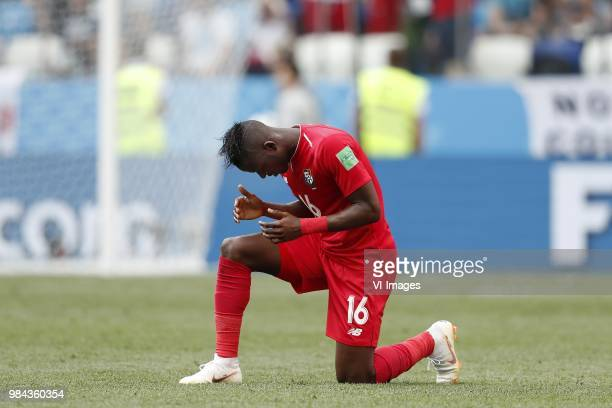 Abdiel Arroyo of Panama during the 2018 FIFA World Cup Russia group G match between England and Panama at the Nizhny Novgorod stadium on June 24 2018...