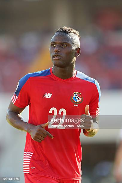 Abdiel Arroyo of Panama during the Copa Centroamericana 2017 tournament between Panama and Costa Rica at Estadio Rommel Fernandez on January 22 2017...