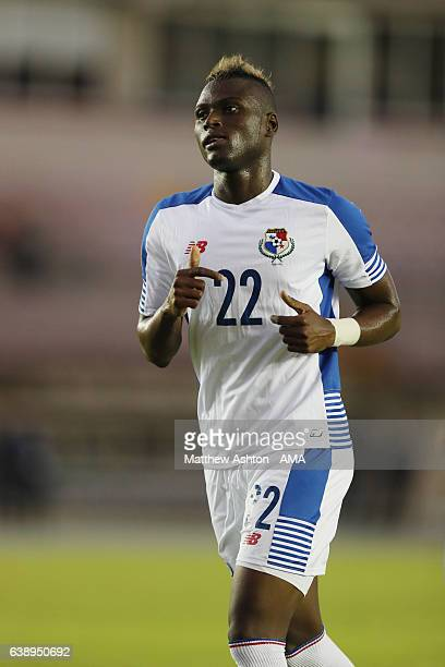 Abdiel Arroyo of Panama during the Copa Centroamericana 2017 tournament between Panama and Nicaragua at Estadio Rommel Fernandez on January 15 2017...