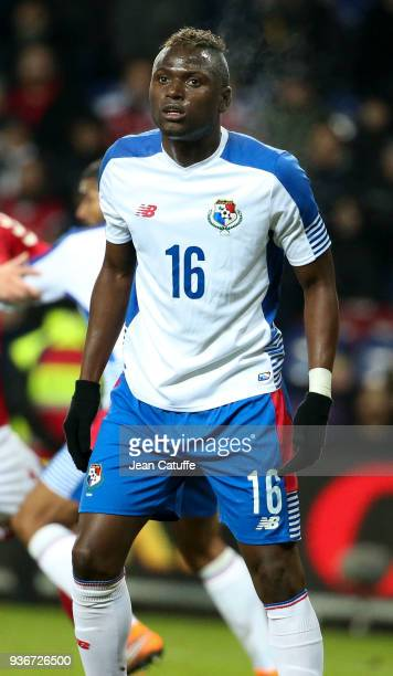 Abdiel Arroyo of Panama during the international friendly match between Denmark and Panama at Brondby Stadion on March 22 2018 in Brondby Denmark