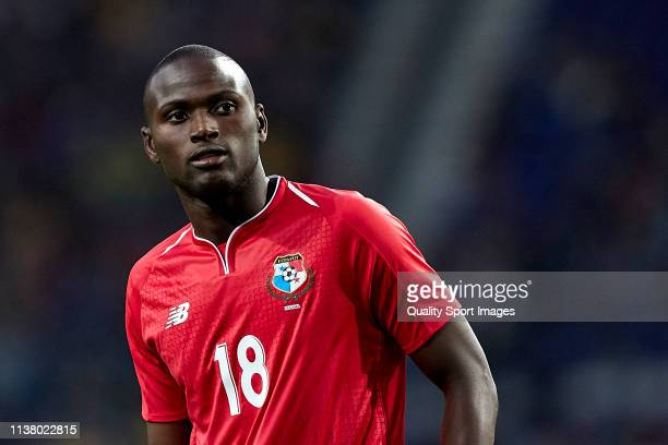 Abdiel Arroyo of Panama looks on during the International Friendly match between Brazil and Panama at Estadio do Dragao on March 23 2019 in Porto...