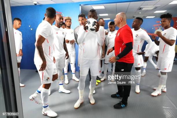 Abdiel Arroyo of Panama looks on from the tunnel prior to the 2018 FIFA World Cup Russia group G match between Belgium and Panama at Fisht Stadium on...