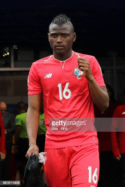 Abdiel Arroyo of Panama looks on prior to the 2018 FIFA World Cup Russia group G match between England and Panama at Nizhny Novgorod Stadium on June...