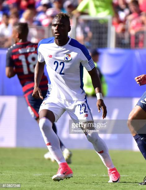 Abdiel Arroyo of Panama plays against USA during a CONCACAF Gold Cup Soccer match at Nissan Stadium on July 8 2017 in Nashville Tennessee