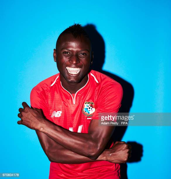 Abdiel Arroyo of Panama poses for a portrait during the official FIFA World Cup 2018 portrait session at the Saransk Olympic Training Center on June...