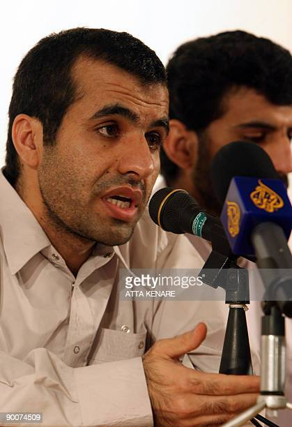 Abdolhamid Rigi top Sunni rebel for the shadowy Jundallah group speaks during a press conference in Iran�s restive southeastern city of Zahedan on...