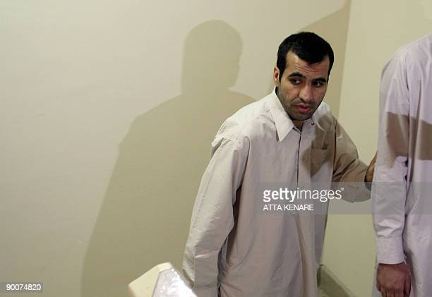 Abdolhamid Rigi top Sunni rebel for the shadowy Jundallah group arrives to hold a press conference in Iran�s restive southeastern city of Zahedan on...
