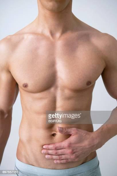 Abdominal pain in a man