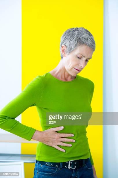 Abdominal pain in elderly person