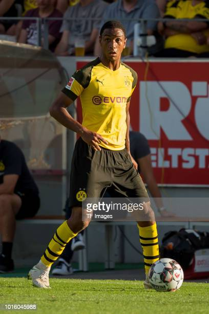 Abdou Diallo of Borussia Dortmund controls the ball during the friendly match between Borussia Dortmund and Lazio Rom on August 12 2018 in Essen...
