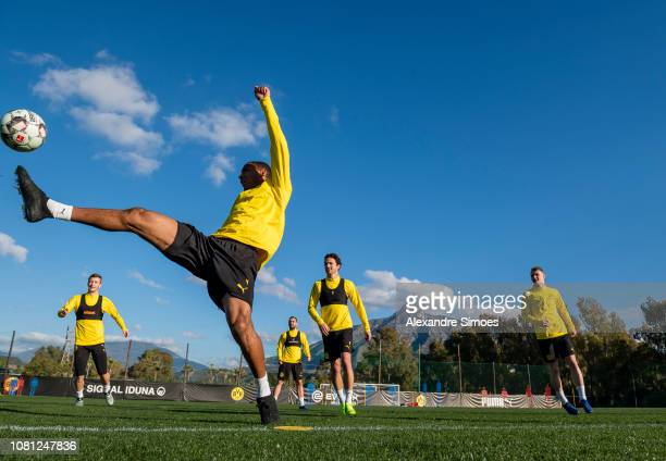 MARBELLA SPAIN 120112019 Abdou Diallo of Borussia Dortmund during a training session as part of the training camp of Borussia Dortmund on Saturday...