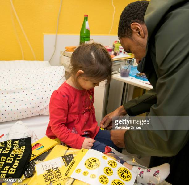 Abdou Diallo of Borussia Dortmund during the annual visit at the Children's Hospital on December 03 2018 in Dortmund Germany