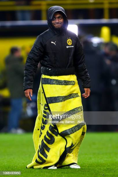 Abdou Diallo of Borussia Dortmund during the Group A match of the UEFA Champions League between Borussia Dortmund and Club Brugge at Signal Iduna...