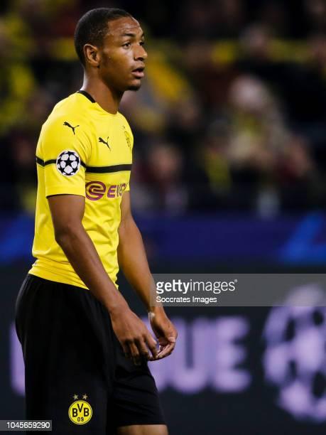Abdou Diallo of Borussia Dortmund during the UEFA Champions League match between Borussia Dortmund v AS Monaco at the Signal Iduna Park on October 3...
