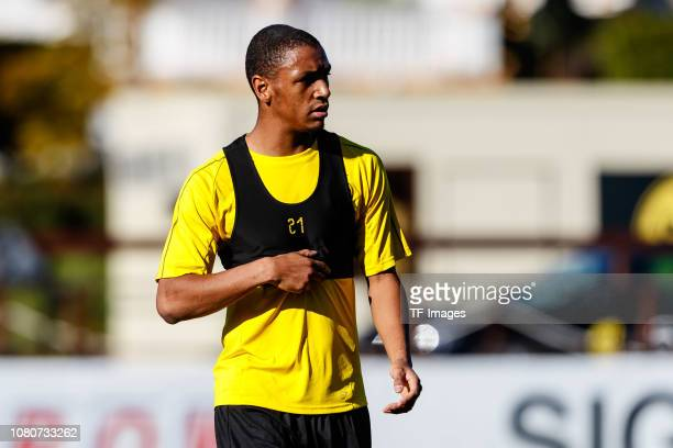 Abdou Diallo of Borussia Dortmund looks on during a training session as part of the Borussia Dortmund training camp on January 10 2019 in Marbella...